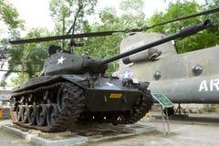 Old M41 tank on display Stock Photo