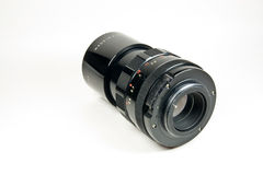 Old M42 mount lens - rear view Stock Photo