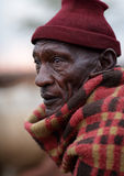Old Maasai man in Loitoktok, Kenya. Stock Photo