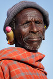 Old Maasai man in Loitoktok, Kenya Stock Image