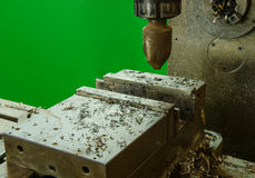 Old machine drilling work. Stock Images