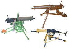 Old machine gun Stock Images