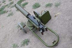 Old machine gun. With ammo box Stock Photography