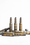 Old machine gun bullets Stock Photography