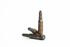 Old machine gun bullets Royalty Free Stock Photography