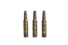 Old machine gun bullets Stock Photo
