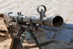 Old machine gun Stock Image