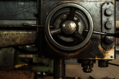The old machine parts. Also the operation of the old machine parts Royalty Free Stock Image