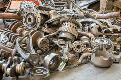 Old machine parts in second hand machinery shop Royalty Free Stock Photography