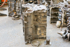 Old machine parts in second hand machinery shop Stock Images