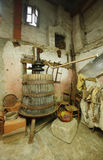 Old machine for pressing Grapes Stock Images