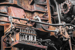 Old machine. rusty metal machinery detail. Stock Images