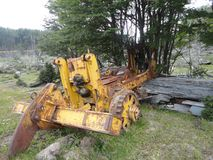 Old machine in tierra del fuego Stock Photo