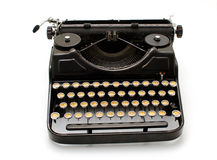 Old machine writing. First flat white background Royalty Free Stock Images