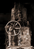 Old machinery. A piece of old and rusty machinery Stock Photos