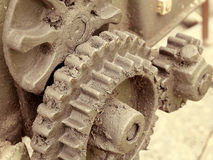 Old machinery details closeup. Royalty Free Stock Photos