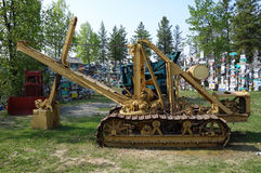 Old machinery from goldrush days in the yukon territories royalty free stock image