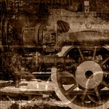 Old machinery illustration. Old machinery dark brown illustration Royalty Free Stock Photo
