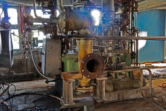 Free Old Machinery Of Abandoned Factory From  Inside Royalty Free Stock Photos - 48106088