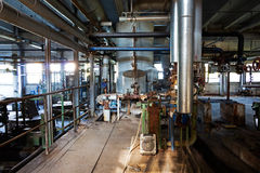 Free Old Machinery Of  Abandoned Factory From The Inside Royalty Free Stock Images - 47211959