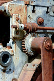Old machinery parts. Old Victorian rusting parts on brick making machine Stock Photography