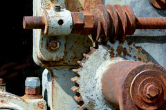 Old machinery parts Royalty Free Stock Images