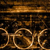 Old machines background. Old dark steam trains machines background illustration stock illustration
