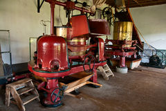 Old machine at small tea factory Royalty Free Stock Photography