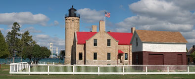Old Mackinac Point Lighthouse stock photography