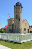 Old Mackinac Point Lighthouse in Mackinaw City Michigan Stock Photography