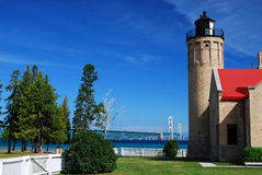 Old Mackinac Point Lighthouse Stock Photos