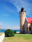 Old Mackinac Point Lighthouse. On the Straits of Mackinac, Michigan Royalty Free Stock Photo