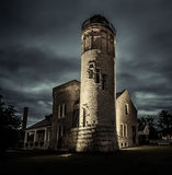 The Old Mackinaw Point Lighthouse In Michigan Stock Images