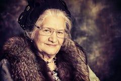 Old madam Stock Photo