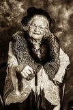 Old madame Stock Photo