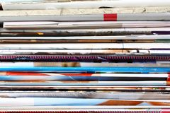 Old magazines as background Royalty Free Stock Photos