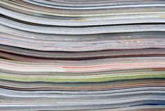 Old magazines as background Royalty Free Stock Photography