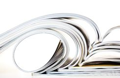Old magazines with bending pages Royalty Free Stock Image