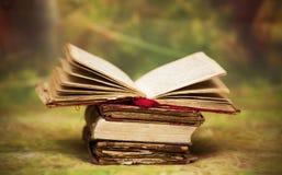 Old, magic, fairytale books Stock Image
