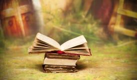 Old, magic, fairytale books Stock Photos
