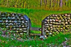 Old magic fence Stock Photo