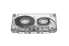 Old magnetic audio tape cassette Stock Photos