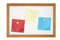 Old magnetic message board Royalty Free Stock Image