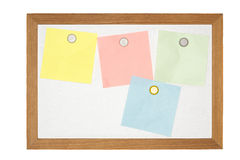 Old magnetic message board Stock Image
