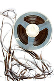 Old magnetic tape reel Stock Image