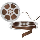 Old magnetic tape. Reel to reel tape. Vector illustration Royalty Free Stock Photography
