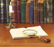 Old magnifier Royalty Free Stock Image