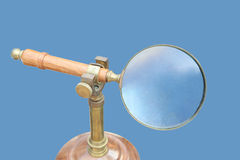 Old magnifying glass Royalty Free Stock Photo