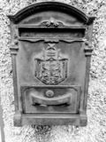 An old mail box in cast iron stock photos