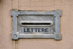 Marble letterbox on a wall royalty free stock images